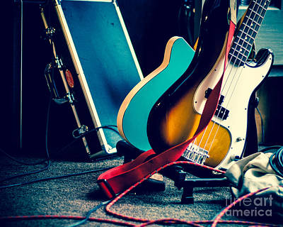 Guitars At Rest Art Print