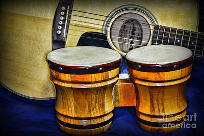 Bongo Photograph - Guitars Bongos And Beatniks by Paul Ward