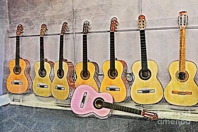 Guitars Art Print by Erika Weber