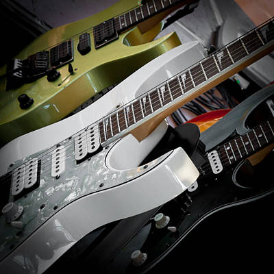 Guitars For Play Art Print by David Patterson
