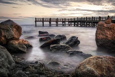 High Dynamic Range Photograph - Gulf Beach Pier by Kyle VanEtten