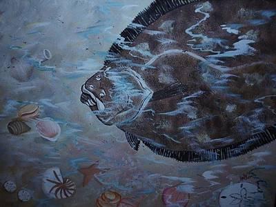 Flounder Painting - Gulf Coast Flounder by Shirley Kelly