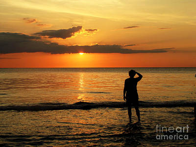 Gulf Coast Sunset Art Print by Sharon Burger
