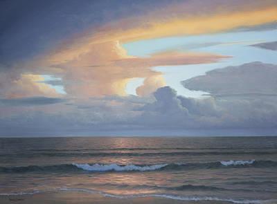 Gulf Coast Painting - Gulf Evening by Armand Cabrera
