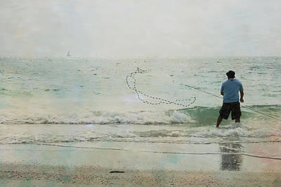 Angling Photograph - Gulf Fishing by Georgia Fowler
