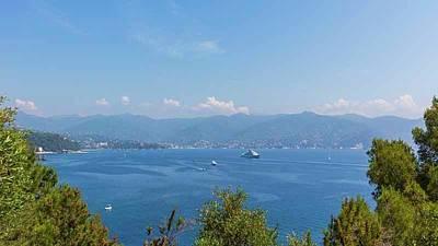 Portofino Harbour Photograph - Gulf Of Tigullio, Italy by Ken Welsh