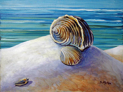 Painting - Gulf Shores And Shells I by Suzanne McKee