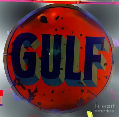Photograph - Gulf Sign Vintage by Saundra Myles