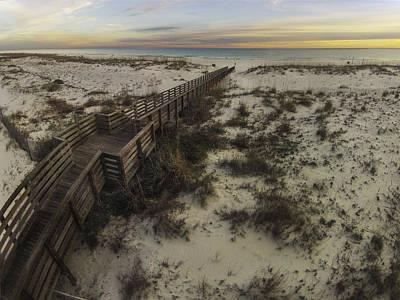 Digital Art - Gulf State Boardwalk by Michael Thomas