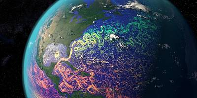 Gulf Stream And Atlantic Ocean Currents Art Print by Karsten Schneider