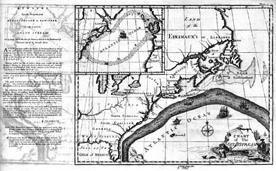 Carousel Collection Photograph - Gulf Stream Chart, 1786 by Granger