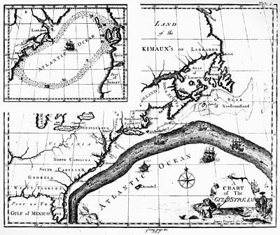 Carousel Collection Photograph - Gulf Stream: Map, 1786 by Granger