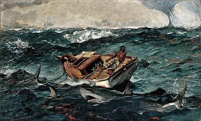 Shark Painting - Gulf Stream by Winslow Homer