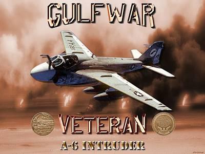Prowler Digital Art - Gulf War Veteran A-6 Intruder  by Mil Merchant