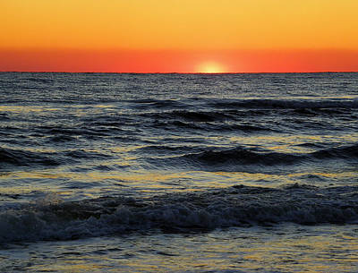 Photograph - Gulf Winter Sunset by Judy Wanamaker