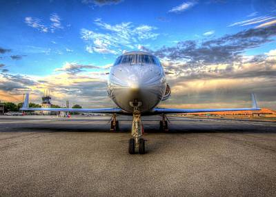Gulfstream Gx450 At Livermore Klvk With Virga Art Print