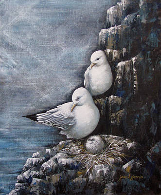 Painting - Gull Family by Joan Garcia