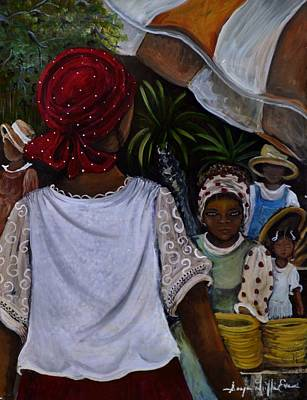 Gullah Geechee Kinfolks Art Print by Sonja Griffin Evans