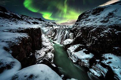 Mountain Stream Wall Art - Photograph - Gullfoss by David Mart??n Cast??n