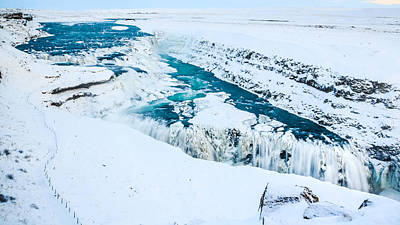 Photograph - Gullfoss In Winter by Peta Thames