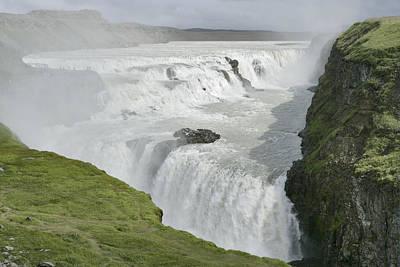 Photograph - Gullfoss Waterfall by E.r. Degginger