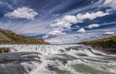 Gullfoss Waterfalls, Iceland Art Print