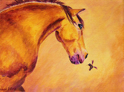 Forelock Painting - Gullivers Feathered Friend by Wendi Matson