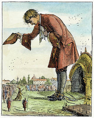 Lilliput Drawing - Gulliver's Travels, 1891 by Granger