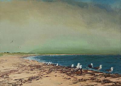 Gulls On The Seashore Art Print