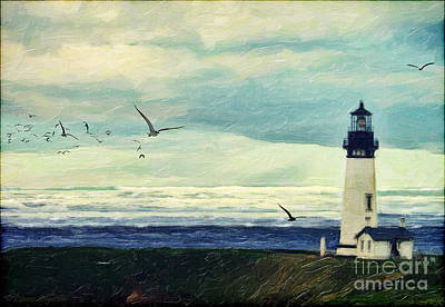 Seagull Digital Art - Gulls Way by Lianne Schneider