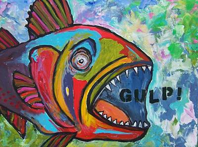 Painting - Gulp by Krista Ouellette