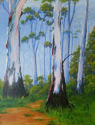 Painting - Gum Trees by Anne Gardner