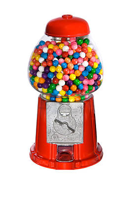 Gumball Vending Machine Art Print
