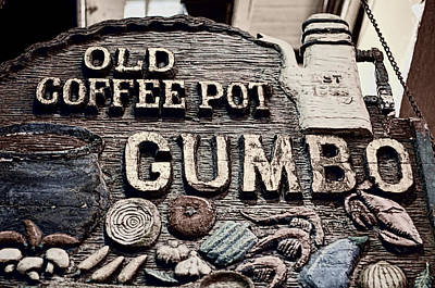 Gumbo Coffee Art Print