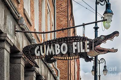 Photograph - Gumbo File Alligator Nola by Kathleen K Parker