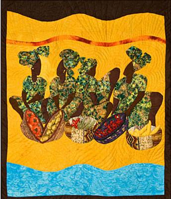 Gumbo Ladies Art Print by Aisha Lumumba
