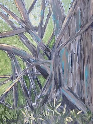 Painting - Gumbo Limbo Park Banyan Tree by Kathryn Barry