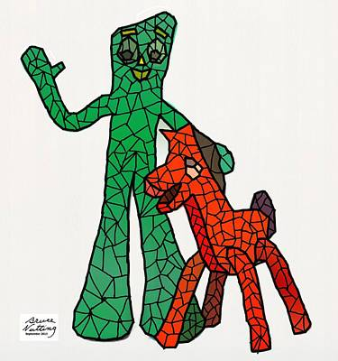 Gumby And Pokey Not For Sale Art Print