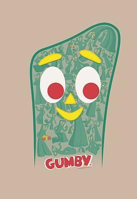 Halloween Digital Art - Gumby - Inside Gumby by Brand A