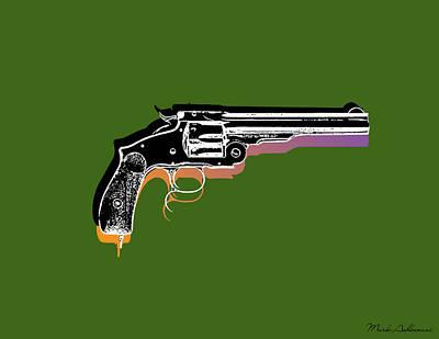 Whimsy Mixed Media - Gun 3 by Mark Ashkenazi