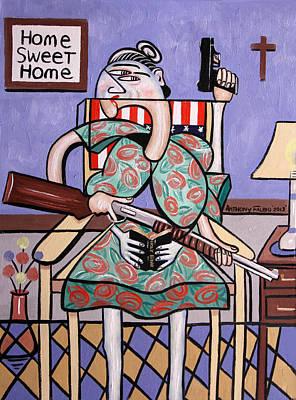 Gun Control Art Print by Anthony Falbo