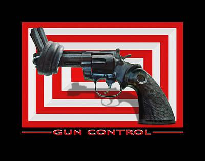 Hand Hammered Photograph - Gun Control by Mike McGlothlen