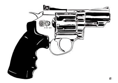 Icons Drawing - Gun Number 27 by Giuseppe Cristiano