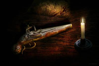 Gun - Pistol - Romance Of Pirateering Print by Mike Savad