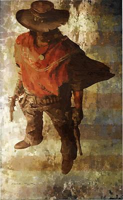 Poncho Painting - Gun Slinger by Lelia DeMello