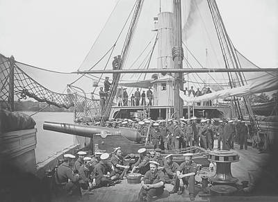 Romantic French Magazine Covers - Gunboat Uss Mendota On James River by Stocktrek Images