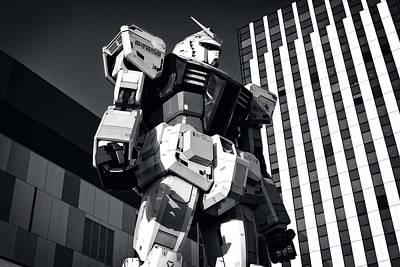Gundam Retro Art Print by Brady Barrineau