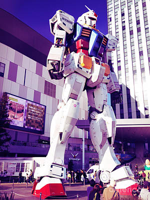 Giant Robot Photograph - Gundam Statue At Diver City Odaiba Tokyo Japan by Oleksiy Maksymenko