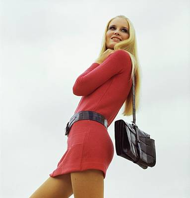 Photograph - Gunilla Lindblad Wearing Mic Mac by John Cowan