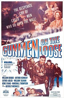 1955 Movies Photograph - Gunmen On The Loose, Us Poster, William by Everett